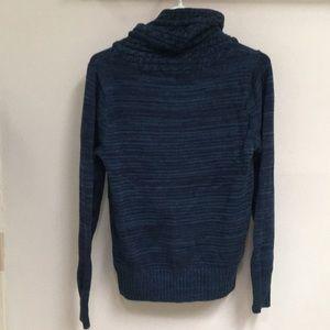 JEANNE PIERRE Sweaters - NWOT! Warm Cowl Neck Blue & Black Knit Sweater